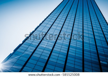detail shot of high-rise buildings in modern city,Shanghai,China. Royalty-Free Stock Photo #585525008
