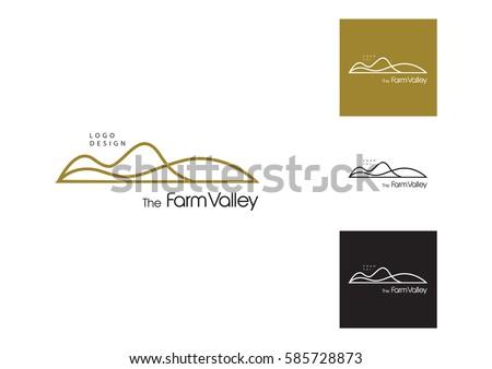 Mountain  logo. Stable, farm,Valley,Company, Race logo design.  Royalty-Free Stock Photo #585728873