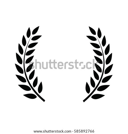 Laurel wreath - symbol of victory and power. Flat icon for apps and websites #585892766