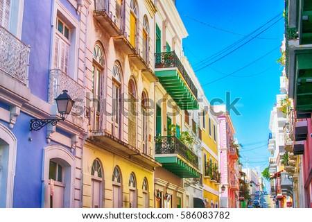 Puerto Rico. San Juan. Caribbean. Royalty-Free Stock Photo #586083782