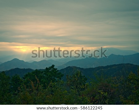 View from Mt Takao during Autumn #586122245
