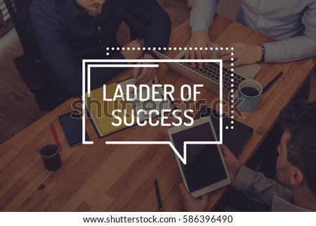LADDER OF SUCCESS CONCEPT #586396490