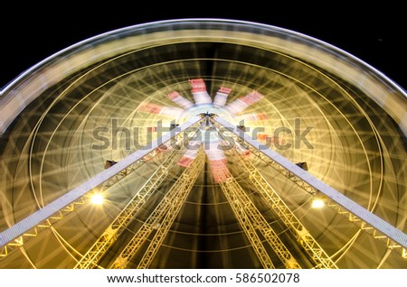Ferris wheel at night in Nice, France #586502078