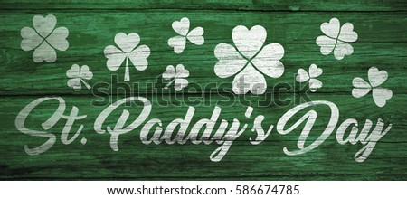 Digital composite of Patricks day greeting #586674785