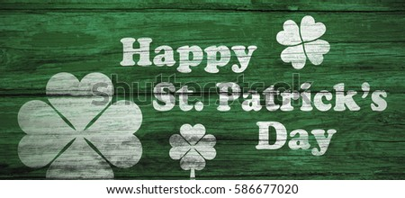 Digital composite of Patricks day greeting #586677020