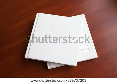 Photo books with a cover of genuine leather