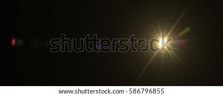Lens flare effect. 3D rendering #586796855