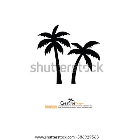 coconut tree icon.vector illustration.eps10.