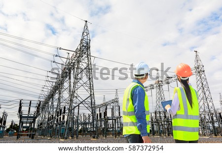 Engineers electrical power plants #587372954