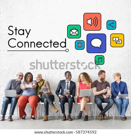 Interaction Online Community Stay Connected #587374592
