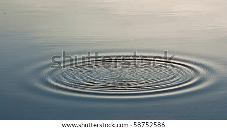 Wave Ripple Circle on the lake #58752586
