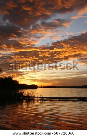 Sunset reflections #587720060