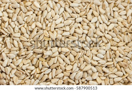 Shelled sunflower seeds #587900513