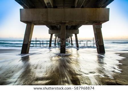 Juno Beach Pier Sunrise, Florida #587968874