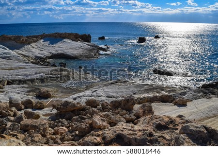 Coral Bay. Paphos district. Wild nature of Cyprus island #588018446