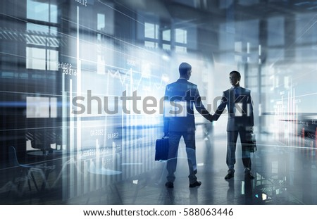 Nice to meet you partner    . Mixed media Royalty-Free Stock Photo #588063446