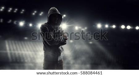 Spooky criminal person    . Mixed media #588084461