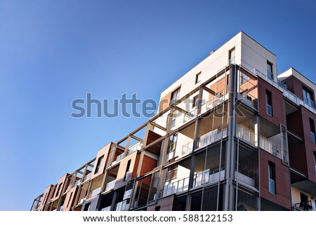 Modern, Luxury Apartment Building #588122153