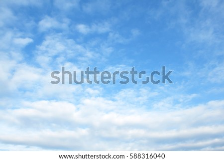 The vast blue sky and clouds sky #588316040