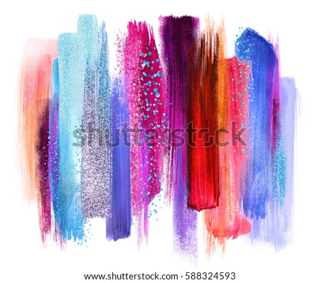 abstract artistic brush strokes, colorful palette, blend, color swatches, grunge art, vivid colors palette, blend, creative background