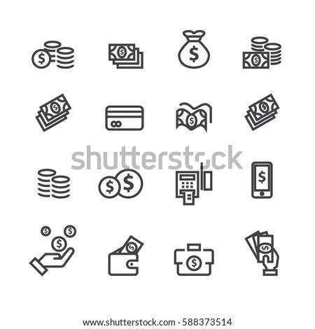 Money set icons,Vector #588373514