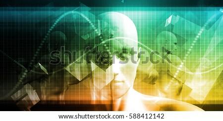 Digital Healthcare Technology System and Platform Software 3D Illustration Render #588412142