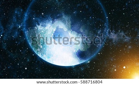 Colorful Starry Night Sky Outer Space background #588716804