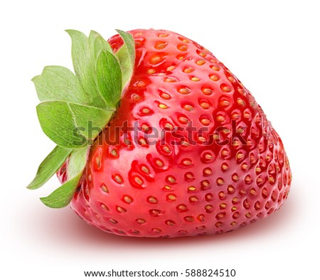 Strawberry isolated on white background with clipping path #588824510