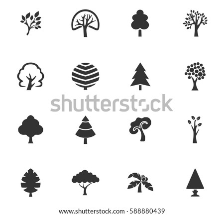 Tree vector icons for user interface design #588880439