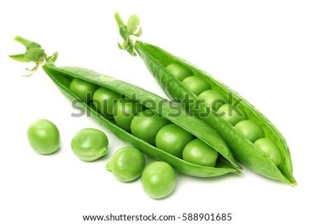 Green peas in closeup #588901685