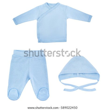 Set of clothes for babies and children, isolation, white background #589022450
