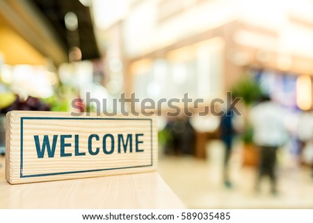 Welcome, Business Concept Royalty-Free Stock Photo #589035485