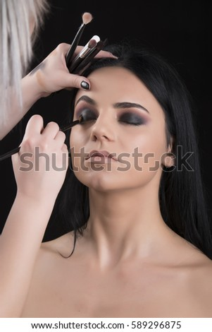Makeup girls in the salon #589296875