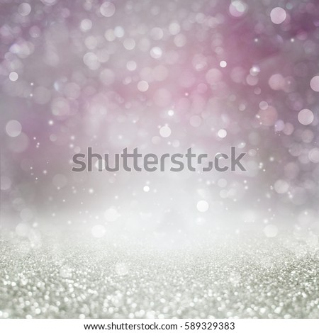 Abstract of Bright and sparkling bokeh background. silver bokeh-blurred lighting from glitter texture. Luxury design background. #589329383