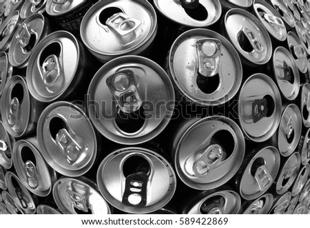 empty aluminum cans as nice recycling background #589422869