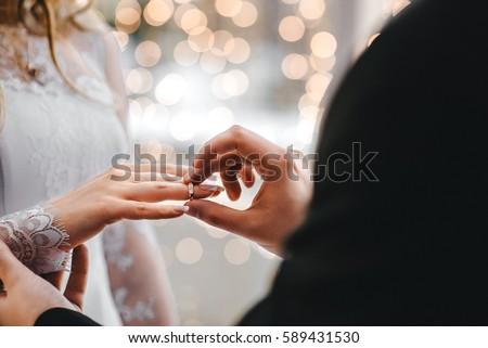 Wedding rings Royalty-Free Stock Photo #589431530