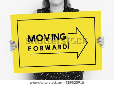 Moving Forward Aspirations Goals Target Ahead #589520915