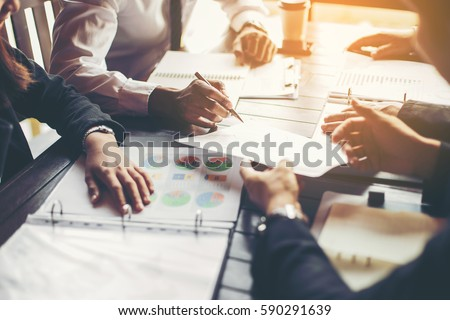 Business People Meeting Design Ideas Concept. business planning Royalty-Free Stock Photo #590291639
