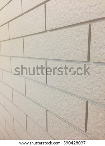 close up of side view of brick wall background or texture #590428097