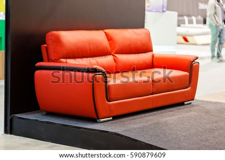 modern sofa for the living room, note shallow depth of field #590879609