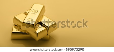 Gold bullion stack. Financial concept. #590973290
