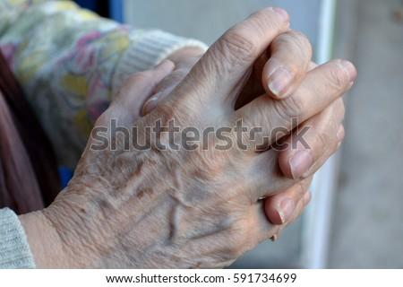 senior nursing hand close up #591734699