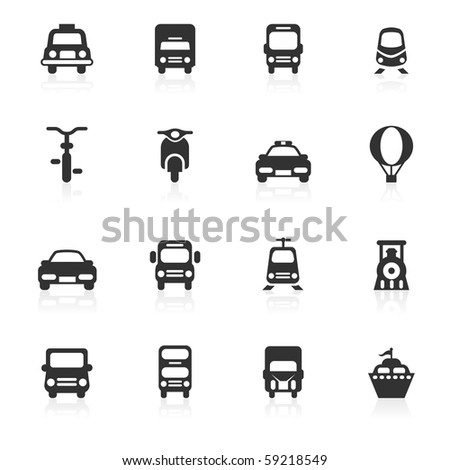 Transportation icons - minimo series