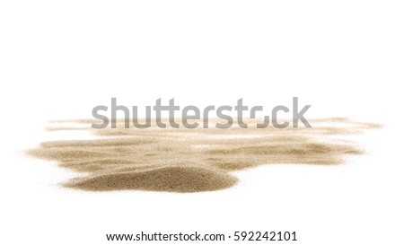 pile desert sand isolated on white background #592242101