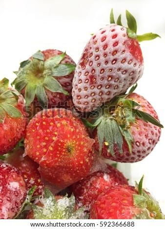 Frozen Strawberries #592366688