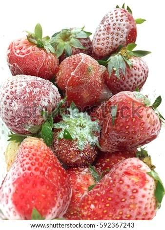 Frozen Strawberries #592367243