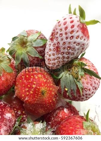 Frozen strawberries #592367606