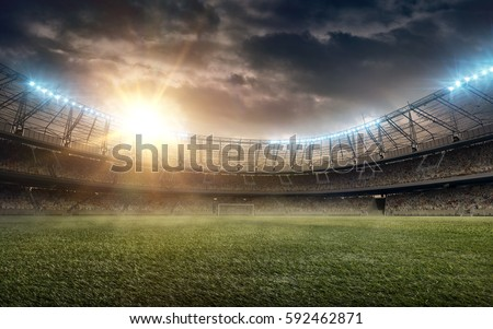 soccer field Royalty-Free Stock Photo #592462871