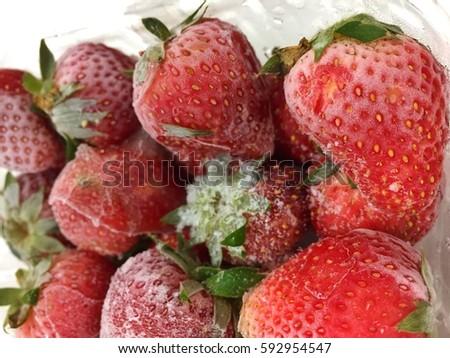 Frozen Strawberry #592954547