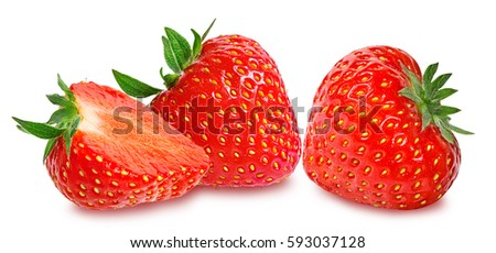 Strawberry on white background #593037128